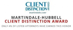 Martindale-Hubbell Client Distinction Award